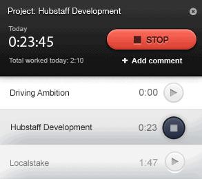 Hubstaff timer