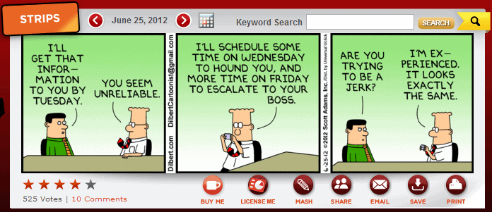 dilbert comic strip about management