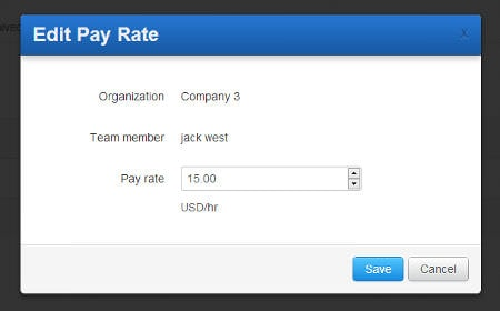 Editing Hubstaff contractor pay rate