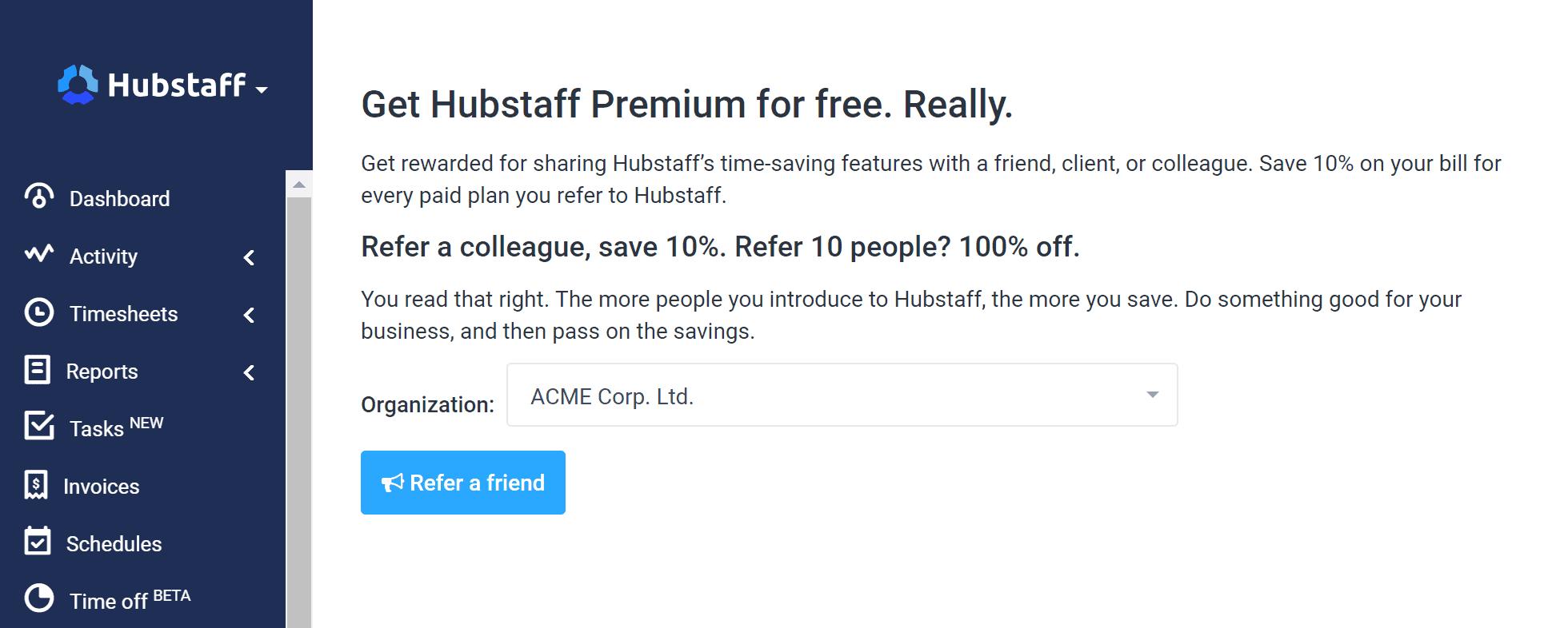 how to get hubstaff premium free