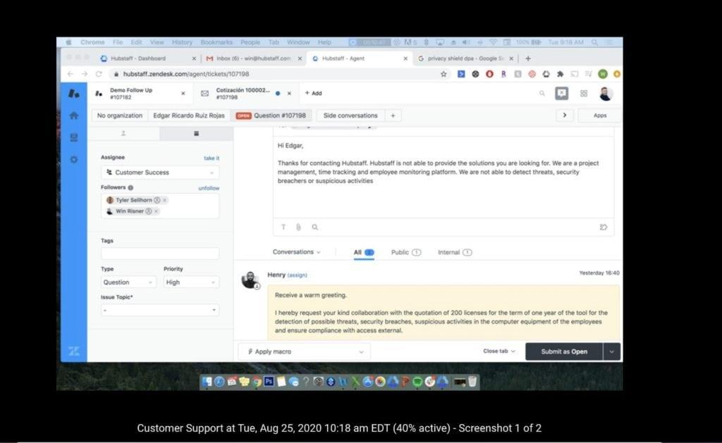 What Hubstaff Screenshots Look Like