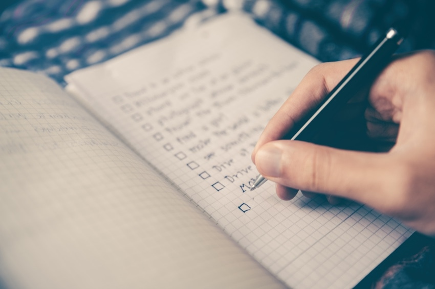 Making lists can help drastically improve your time management