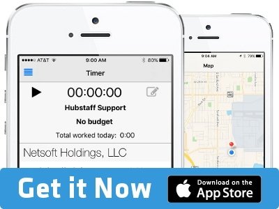 Hubstaff app for iOS on app store