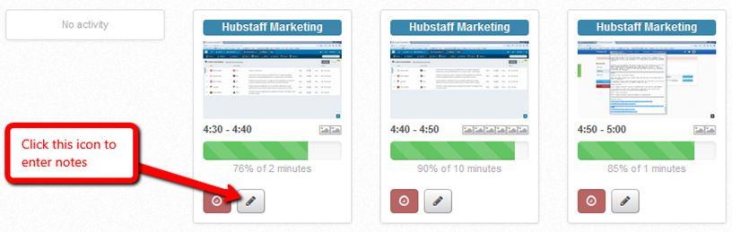 specific activity tracking in Hubstaff