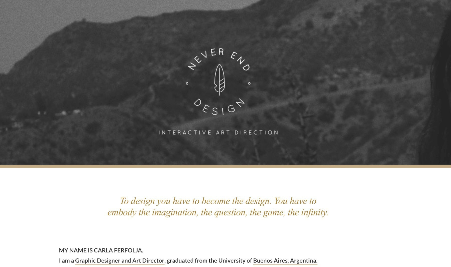 Carla Ferfolja design portfolio website freelance