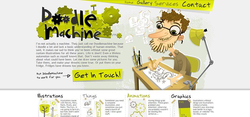 Doodle Machine | Amazing Freelance Graphic Designers Websites