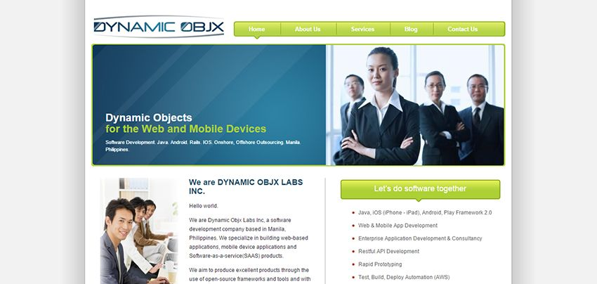 Dynamic Objx | Affordable Web Design: 10 Awesome Developers in the Philippines