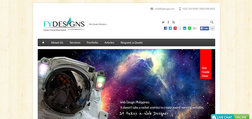 FYDesigns   Affordable Web Design: 10 Awesome Developers in the Philippines