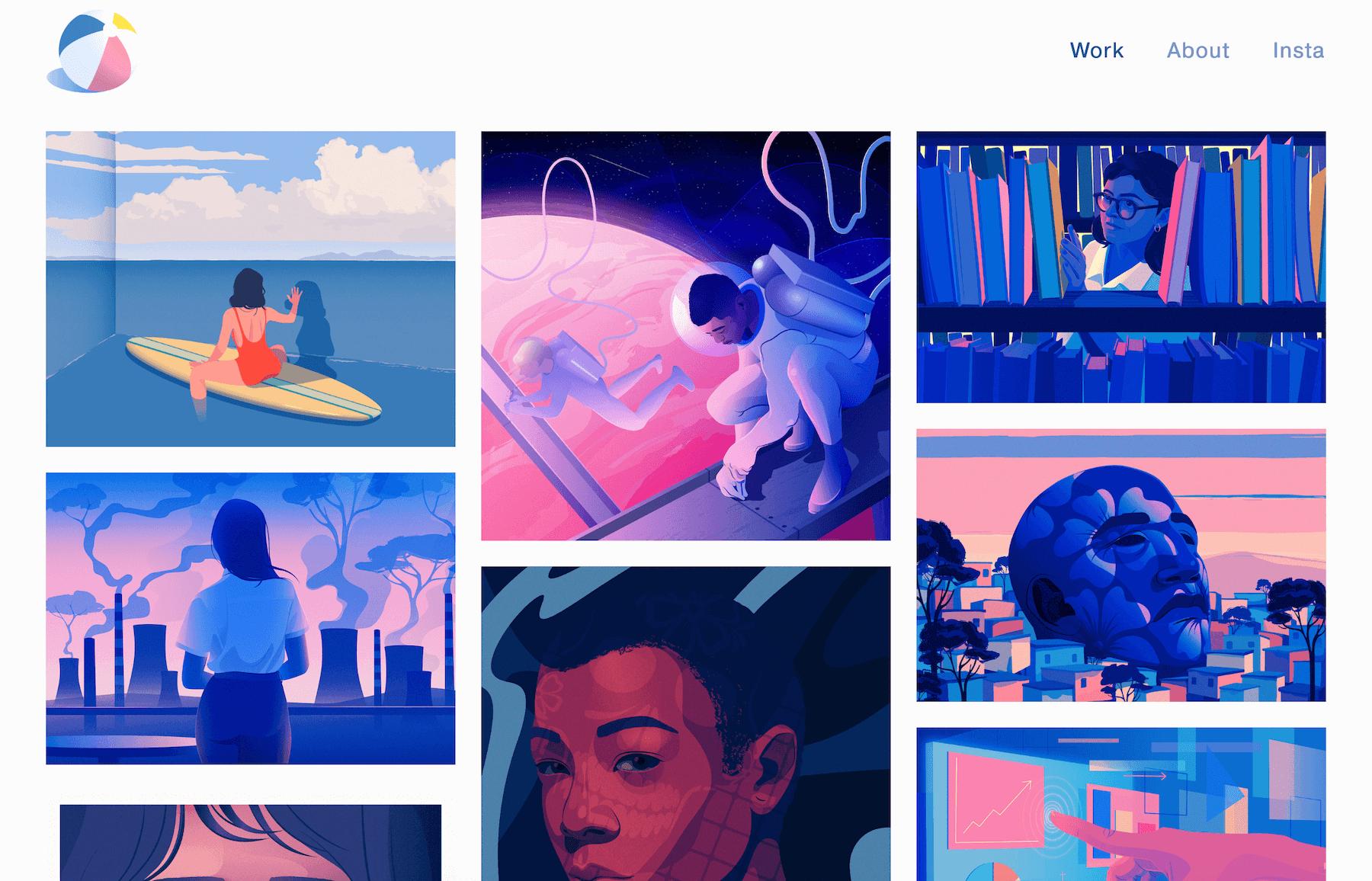 Marly Gallardo portfolio site design