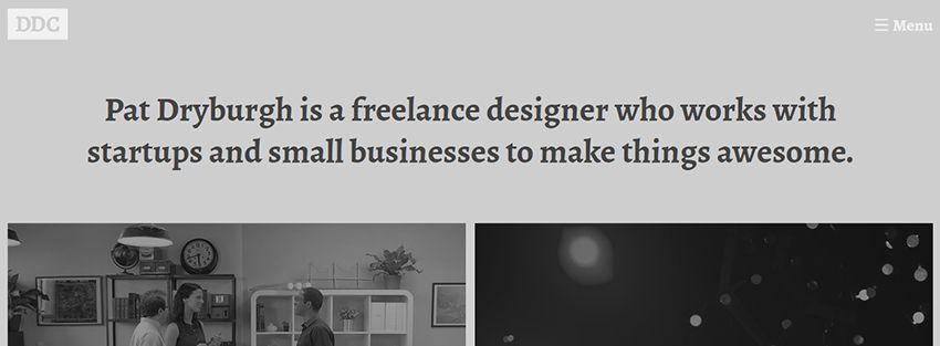 Pat Dryburgh | Amazing Freelance Graphic Designers Websites