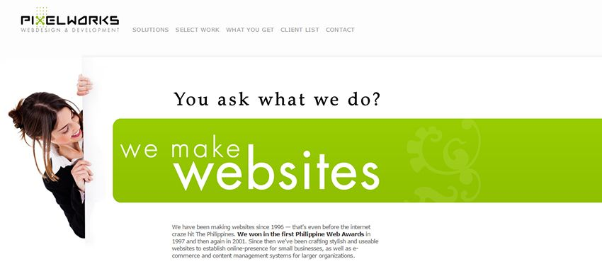 PixelWorks | Affordable Web Design: 10 Awesome Developers in the Philippines