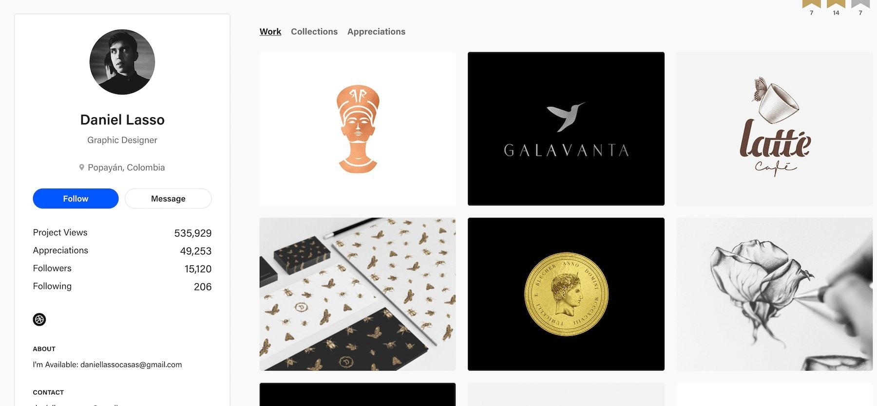 daniel lasso portfolio design website