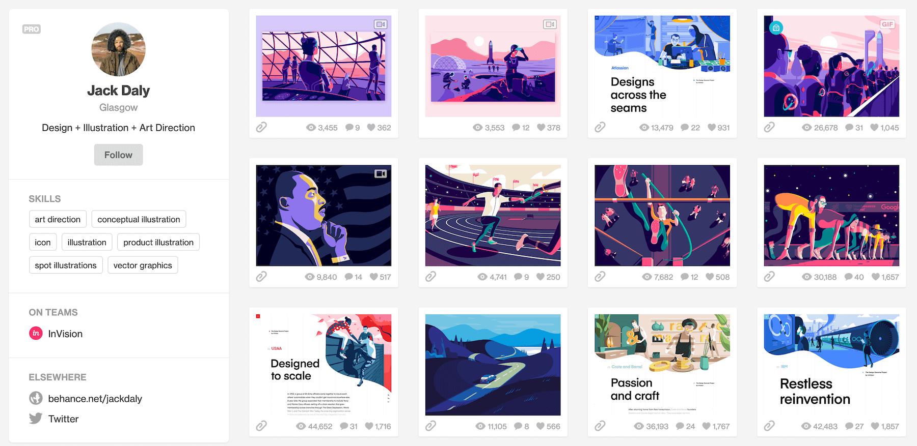 jack daly design portfolio site