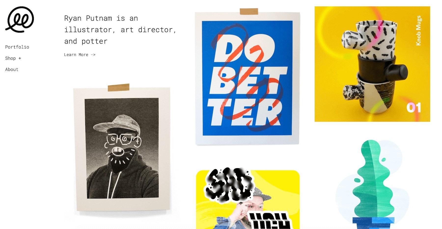 ryan putnam design portfolio website