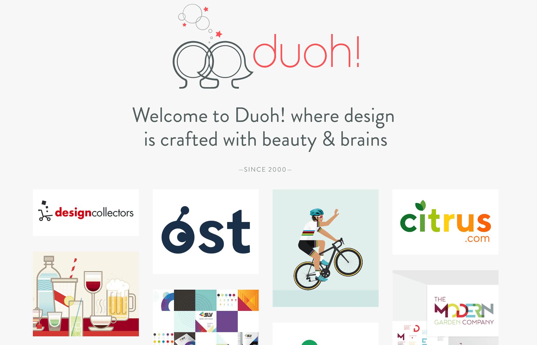 Duoh! design studio portfolio site