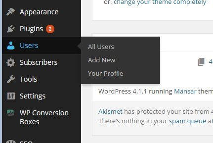 Adding a new user in WordPress | How We Selected and Set up the Best Online Marketing Solutions
