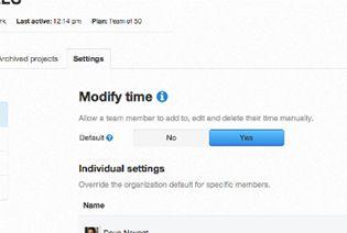 modify time
