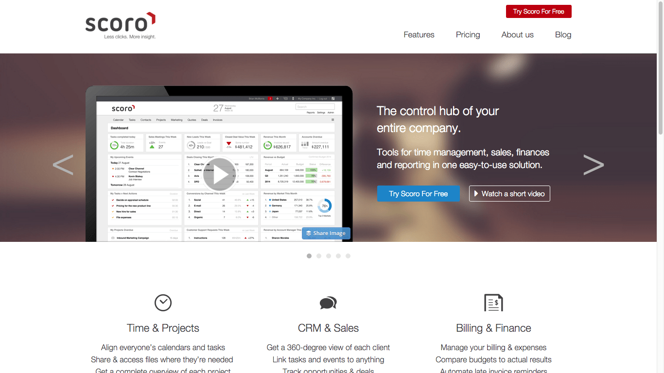 Scoro Cloud-based Project Management Platform