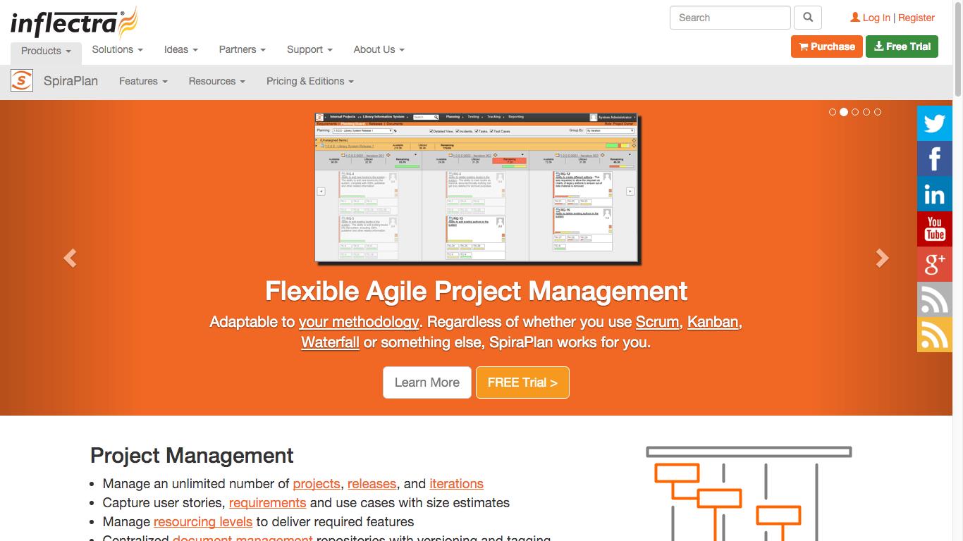 SpiraPlan Agile Project Management Software for development teams