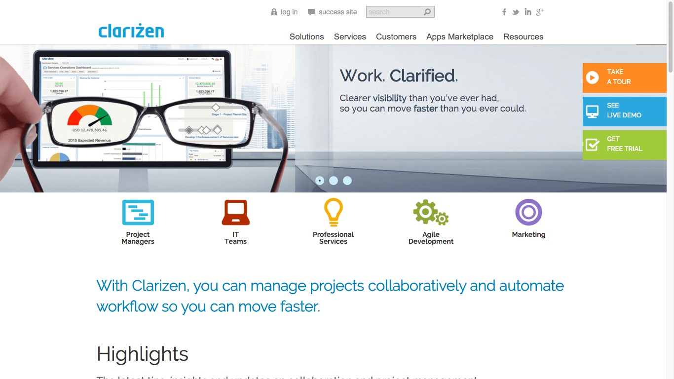 Clarizen   The Best Project Management Software for Remote Teams