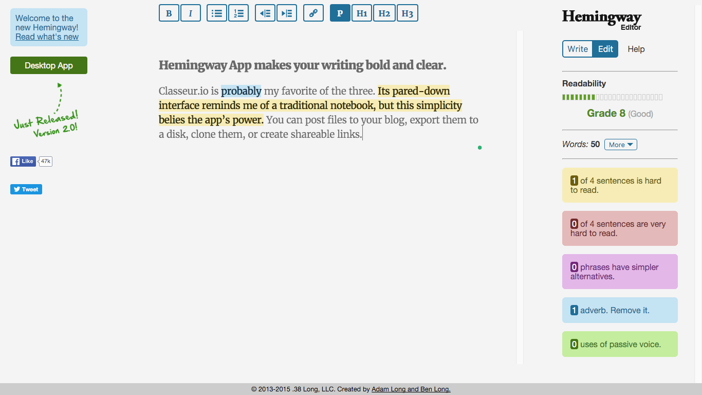 Hemingway App | How to Write More and Publish Better Content