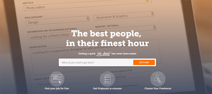 Companies similar to Upwork: PeoplePerHour freelance marketplace