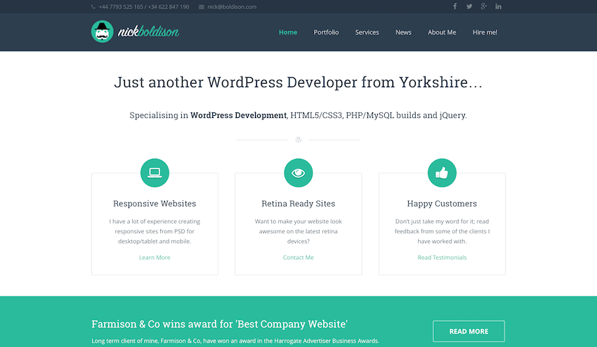 Nick Boldison Freelance WordPress Developer