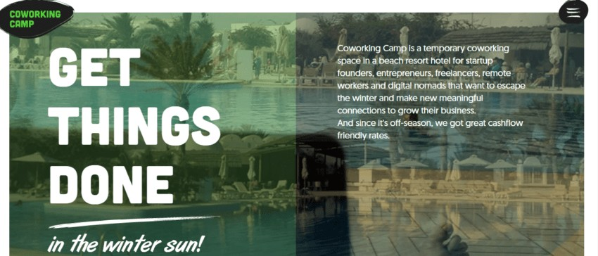 CoWorking Camp | Remote Work Retreats that Let You Travel and Work at the Same Time