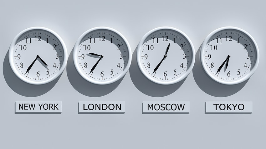 Different time zones