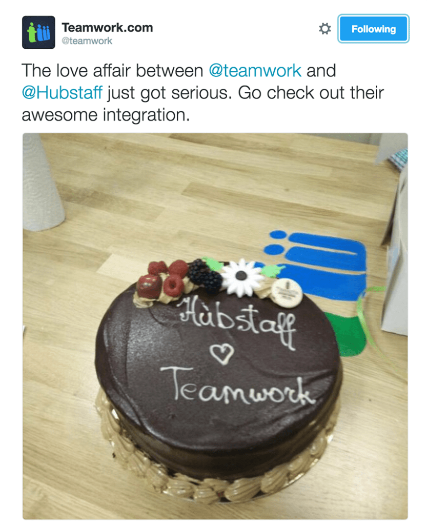 The Teamwork cake!