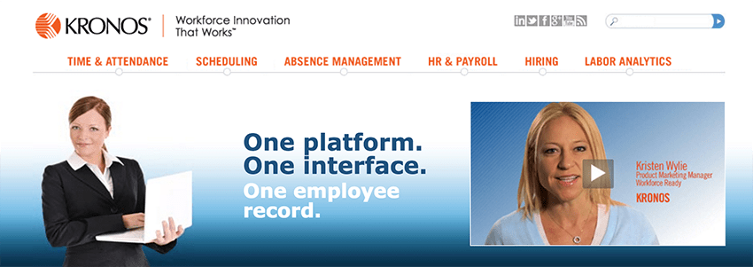 Kronos Workforce Ready is an established attendance tracking software
