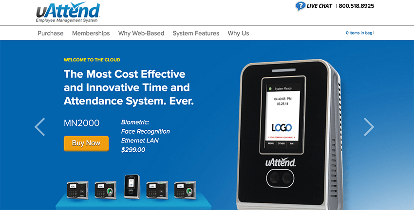 uAttend offers hardware as well as attendance tracking software