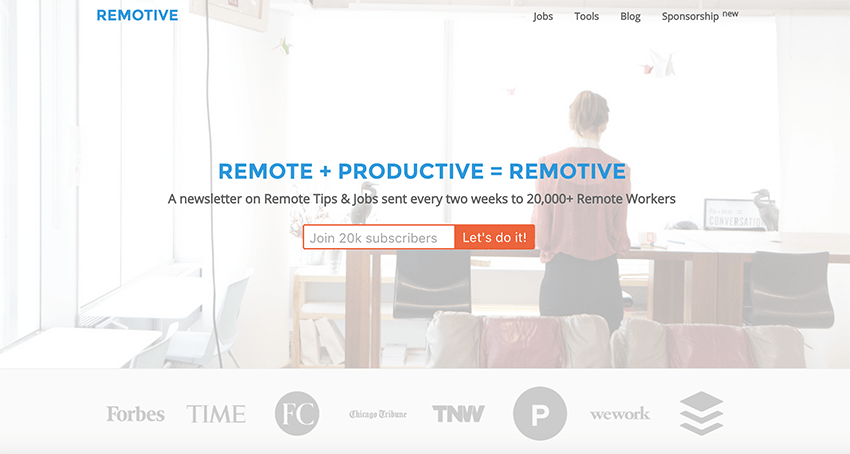 Remotive is one of our favorite curated newsletters