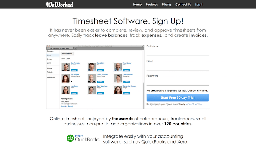 WeWorked Timesheet Software