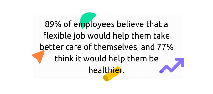 Workers believe that flexibility can improve their health