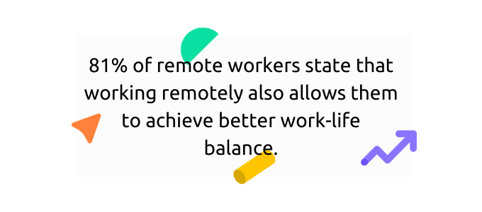 Remote work offers better work-life balance