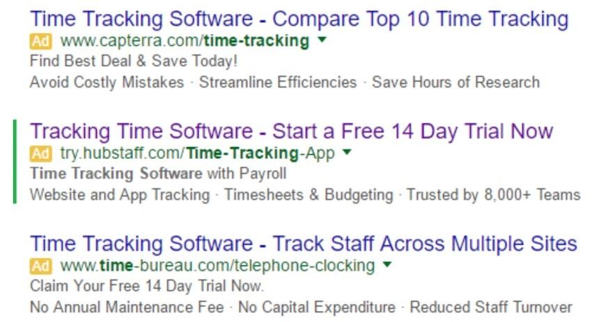 Hubstaff Google Ad
