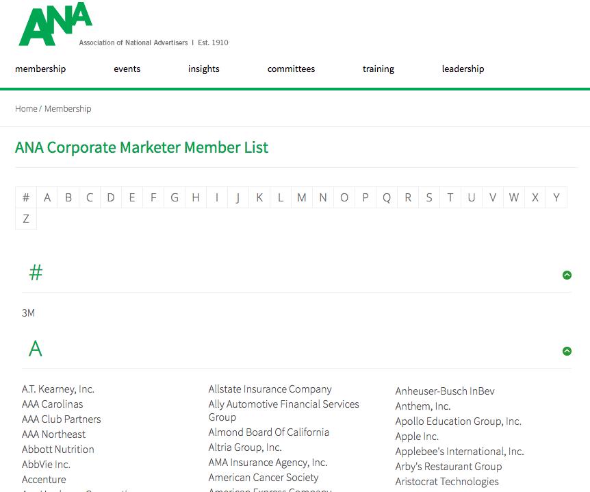 Association National Advertisers