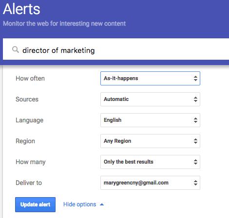 google alerts as it happens