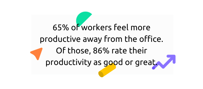 remote workers feel more productive