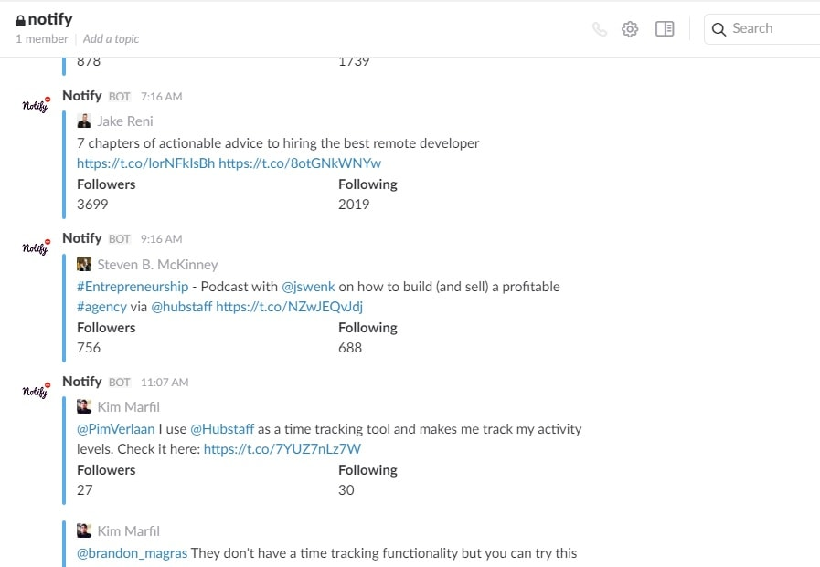 set up Notify to send you Twitter mentions