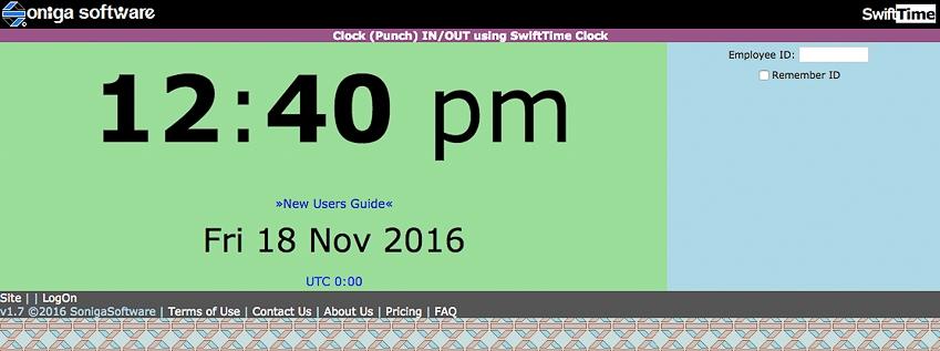 SwiftTime time clock