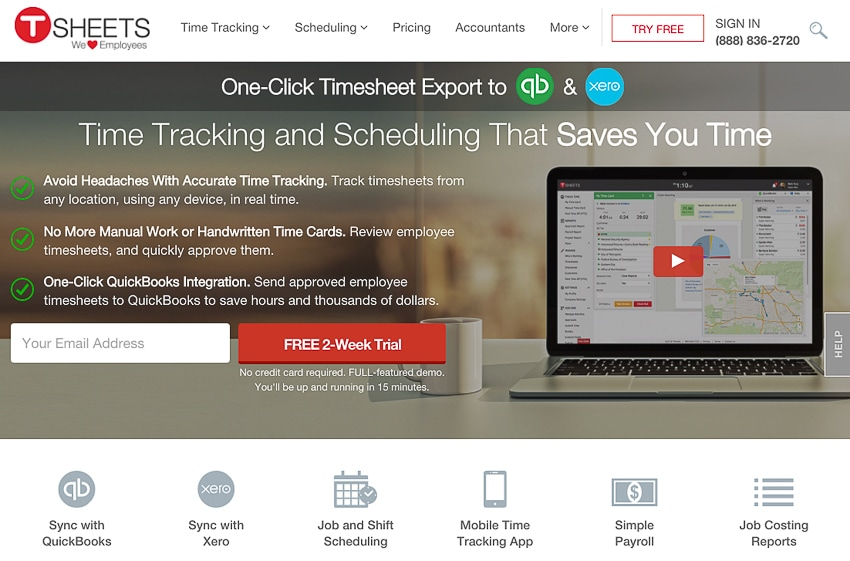 TSheets time clock