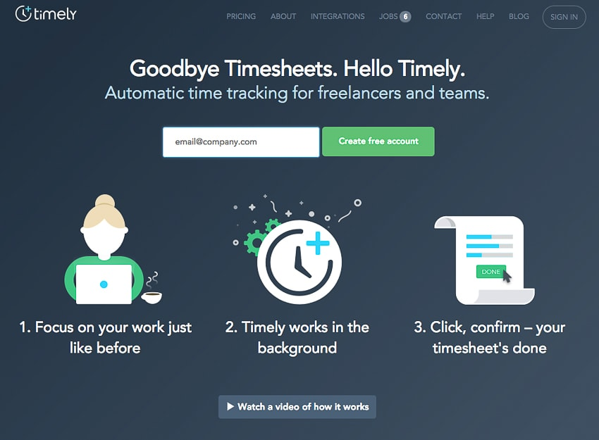 Timely time clock