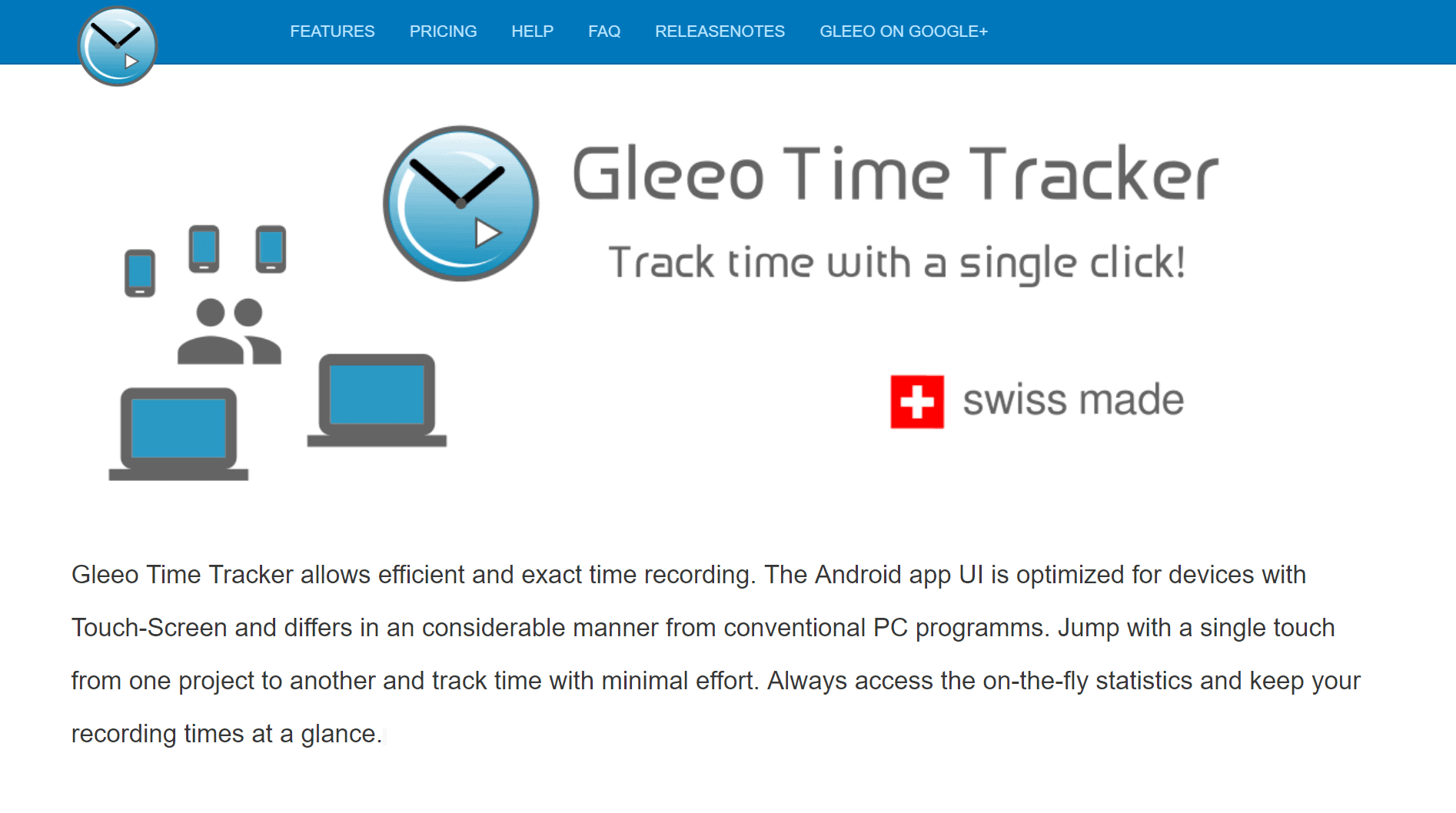 gleeo app with location monitoring services