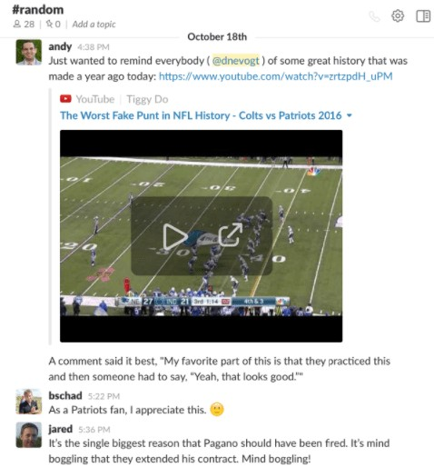 remote team talks about sports