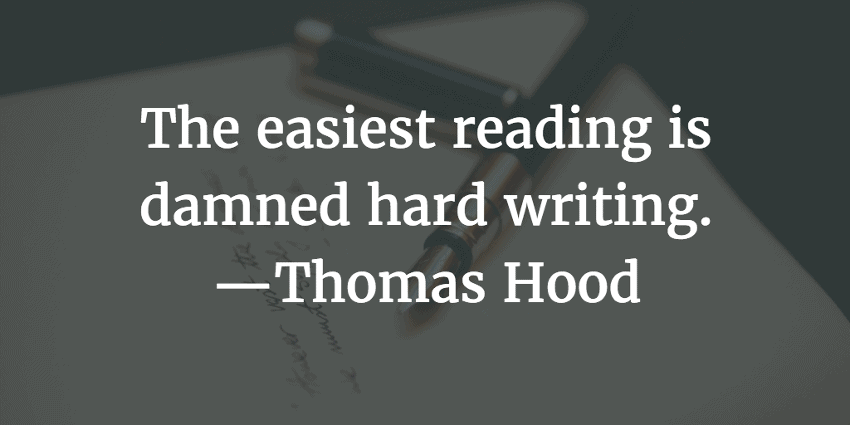 hire a writer - Hood quote