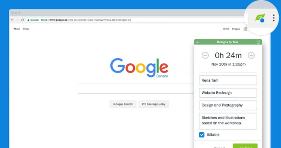 freshbooks chrome extension