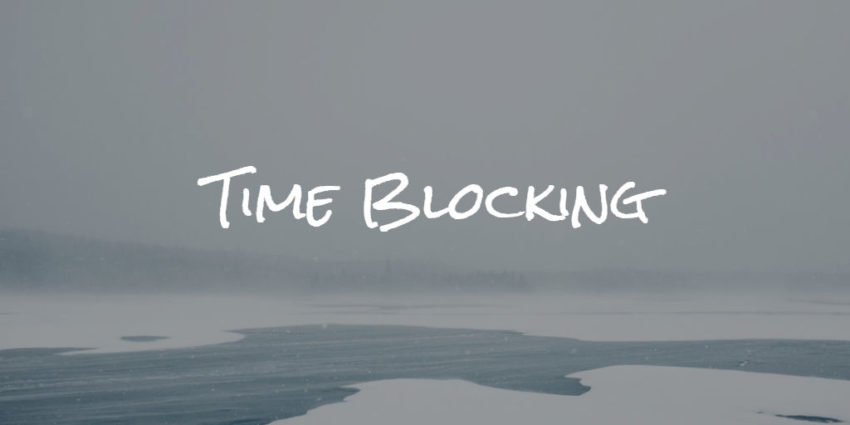 time-blocking method