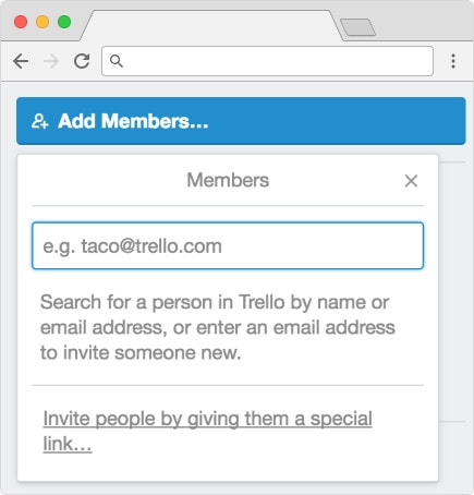 Adding members to the content marketing board in Trello